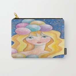 Unusual Whimiscal Girl Carry-All Pouch