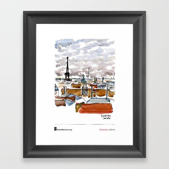 "Nicolas Kern, ""Vue de chez moi"" Framed Art Print"