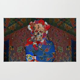 Skull Flower Power Immigrant Rug