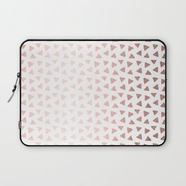 Rose Gold Triangle Checkers Laptop Sleeve