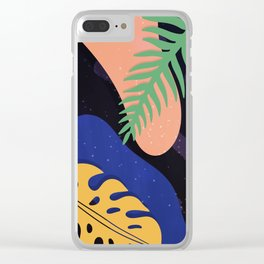 Tropical Space Clear iPhone Case