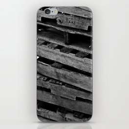 Abstract Wooden Pallets iPhone Skin