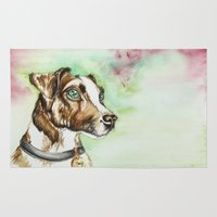 jack russell Area & Throw Rugs featuring Jack Russell Terrier by lauramaahs