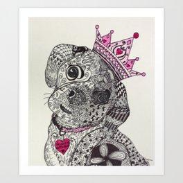 Princess Buttercup in Pink! Art Print