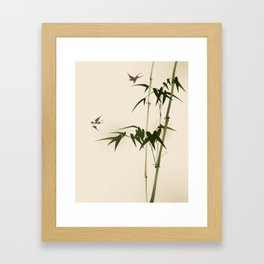 Oriental style bamboo branches 001 Framed Art Print