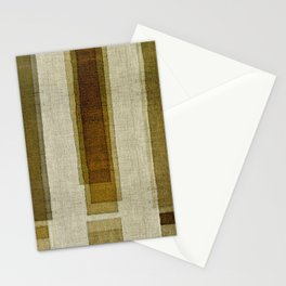 """Burlap Texture Greenery Columns"" Stationery Cards"