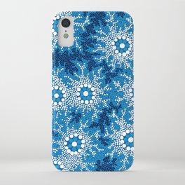 Authentic Aboriginal Art - Waterhole Dreaming iPhone Case