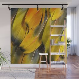 yellow feather Wall Mural