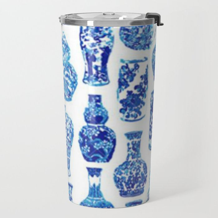Chinoiserie Vase Travel Mug
