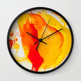 Orange Study Wall Clock
