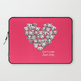 Just Love. (white text) Laptop Sleeve