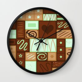 Chocomint Bars Wall Clock