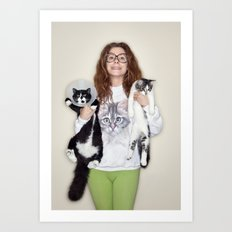 Crazy Cat Lady Photograph Art Print
