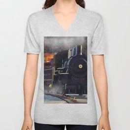 The Rail Yard  -  Steam Train Unisex V-Neck