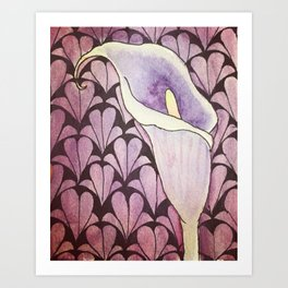Purple Patterns Art Print