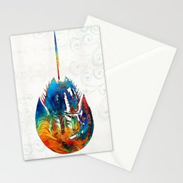 Colorful Horseshoe Crab Art by Sharon Cummings Stationery Cards