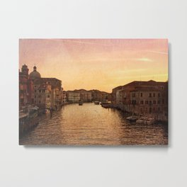 Sunset on the Grand Canal Metal Print
