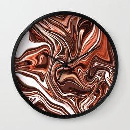 Liquid Golden Marble 011 Wall Clock