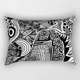 Busy-Busy Tangle Doodle Rectangular Pillow