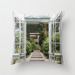 Conservatory Doors Throw Pillow