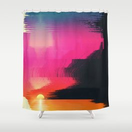 digital beachhead Shower Curtain