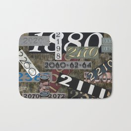House Numbers Bath Mat