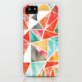 Shattered Geos iPhone Case