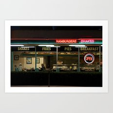 A Night at George's Diner Art Print