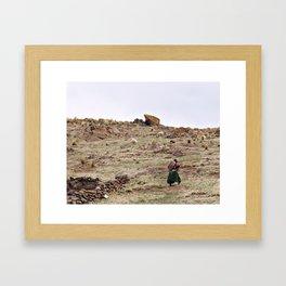 Andean Details. Framed Art Print