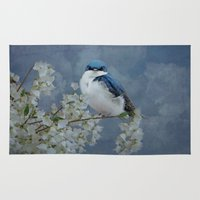 swallow Area & Throw Rugs featuring Tree Swallow by TaLins