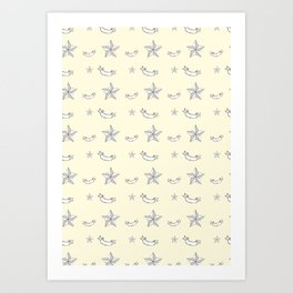"""Nifty 50's - """"Kick-Ass Sugar and Spice"""" in Cream Art Print"""