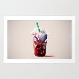 Coffee challenges. Art Print