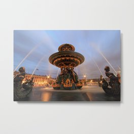 Place de la concorde fountain  Metal Print