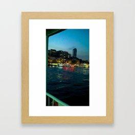 The night lights. Framed Art Print
