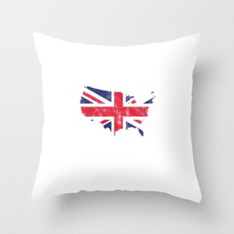Make America Great Britain Again British Flag Nationalism Country Patriotic Gift Throw Pillow