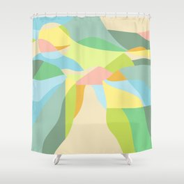 Pastel Super Bloom - Geometric Abstract Shower Curtain