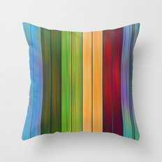 Colored Plank Throw Pillow