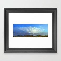 Monsoon Sky Panorama Framed Art Print