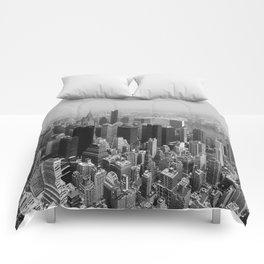 New York City Black and White Comforters