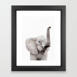 Baby Elephant Portrait Framed Art Print