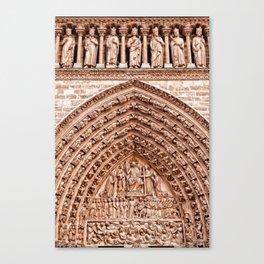 Notre Dame Mural Canvas Print