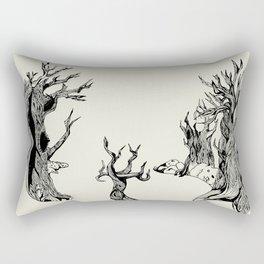 Old trees Rectangular Pillow