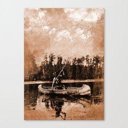 Spearfishing Canvas Print