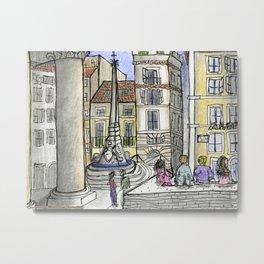 City Landscapes - Piazza della Rotonda - Pantheon - Rome - Italy Metal Print