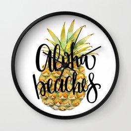 Aloha Beaches Wall Clock