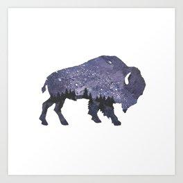 Starry Night Buffalo Art Print