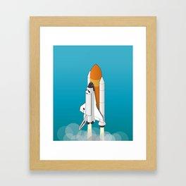 shuttle launch Framed Art Print