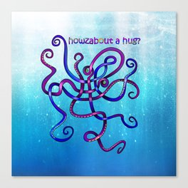 Cuddly Octopus Knot Canvas Print