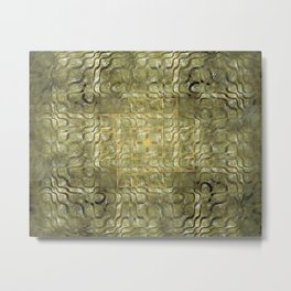 Topography in Gold and Pearl Metal Print