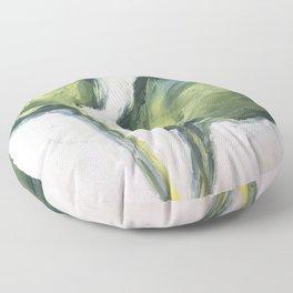 hosta leaves Floor Pillow